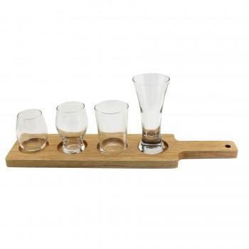 Wood Taster Glass Serving Paddle