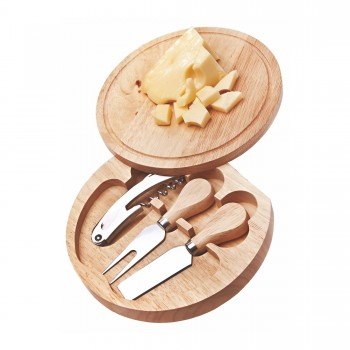 Round Wine & Cheese Swing-Out Set