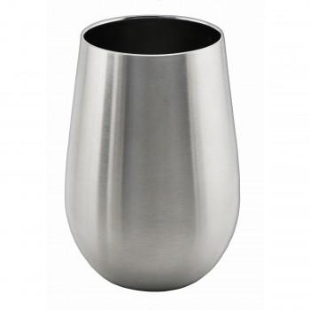 Apollo™ Triple-Wall Stemless Wine Glass, Stainless Steel, 12 oz. Rimfull