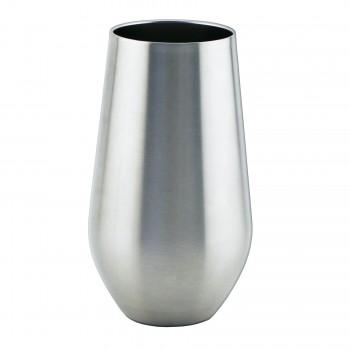 Apollo™ Stemless Glass Triple-Wall, Stainless Steel 16 oz.