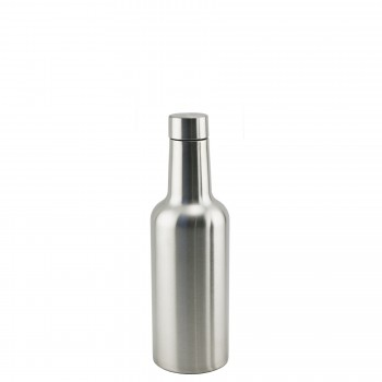 Apollo™ Half - Wine Bottle Triple-Wall Flask, Stainless Steel