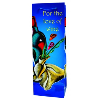 For The Love Of Wine  Paper Wine Bag