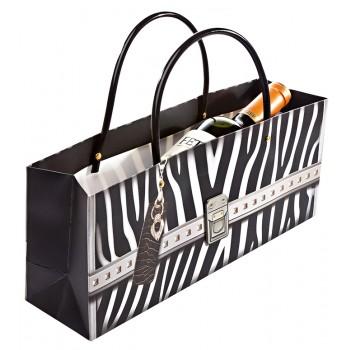 Zebra Bag Horizontal Wine Bottle Bag