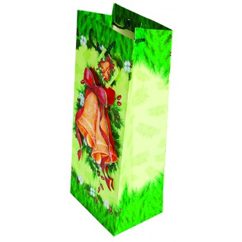 Bells Are Ringing Holiday Wine Bottle Bag