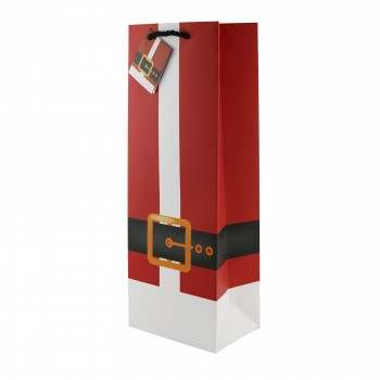 Santa's Jacket Wine Bottle Bag