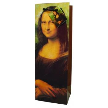 Mona Lisa Paper Wine Bag