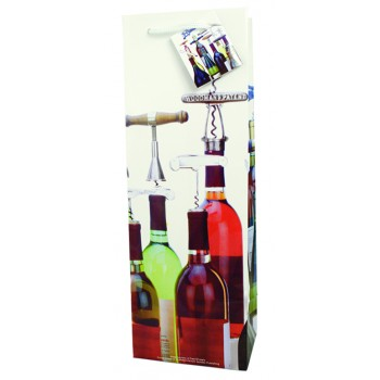 Corkscrew Collection  Paper Wine Bag