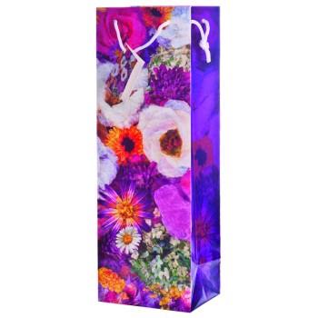 Misty Flowers Paper Wine bag