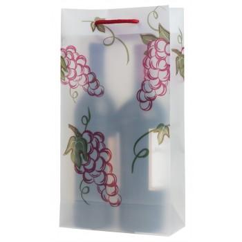 Grapes Double Translucent Plastic Wine Bag
