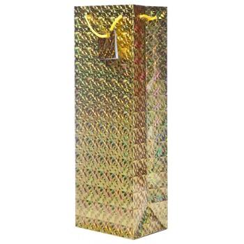 Gold Hologram Wine Bag