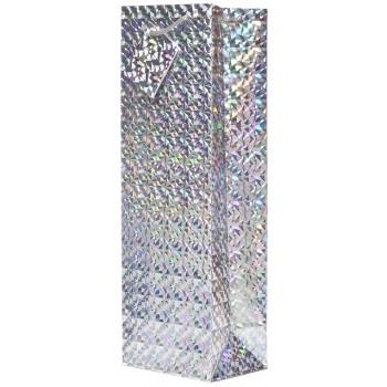 Silver Hologram Wine Bag