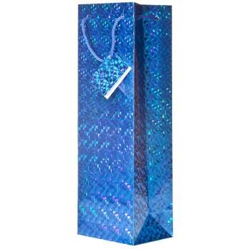 Blue Hologram Wine Bag