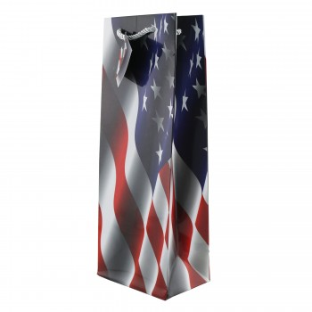 Red, White, and Blue Wine Bag