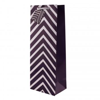Purple Chevron Wine Bag
