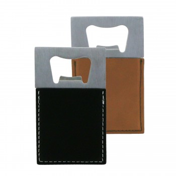 Suave™ Leatherette Based Bottle Opener