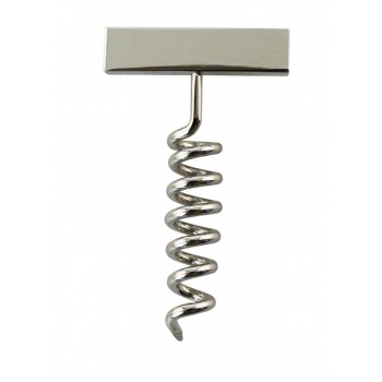 Corkscrew Lapel Pin, Nickel Plated