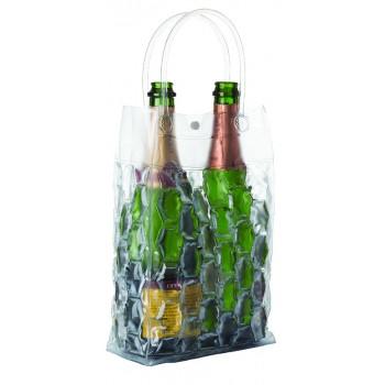 VinoChill™ Two-Bottle Bag (4 bubble-sided), Clear only