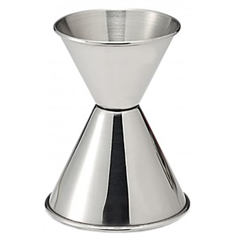 Double Jigger, Stainless Steel 1 Oz. 1-1/4 Oz