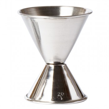 """Double Jigger , Stainless Steel, 1oz. & 2 oz., 3"""" H"""