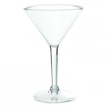 Martini Glass, Acrylic, 8 oz. Rim-full