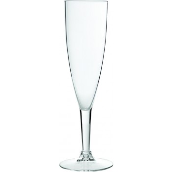 Champagne Flute, Acrylic, 8 oz. Rim-full