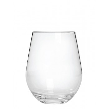 Stemless Wine Glass, Acrylic, 20 oz. Rim-full