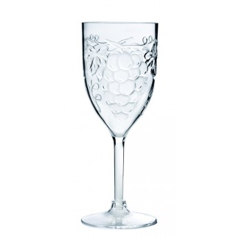 Grape All-Purpose Wine Glass, Acrylic, 10 oz. Rim-full