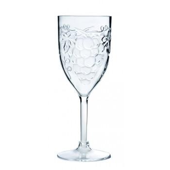Grape All-Purpose Wine Glass, Acrylic, 10 oz. Rim-full