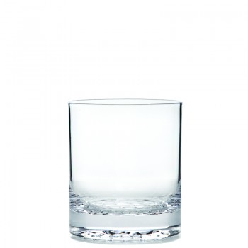 Old Fashioned Tumbler Droplet Base, Acrylic 14 oz. Rim-full.