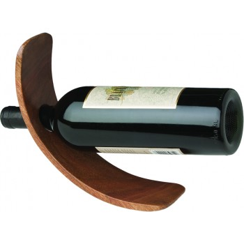 Curved Single Bottle Wood Stand