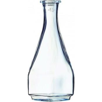 Square Glass Carafe, One (1) Liter