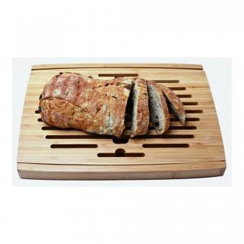 Big Loaf Bread Cutting Board with Bottom Crumb Tray