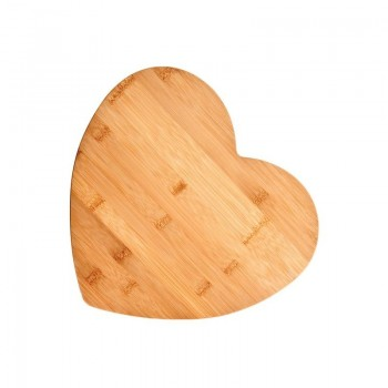 Bamboo Heart-Shaped Cutting Board, Medium
