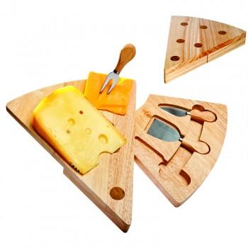 Swivel Wedge-shaped Cheese Board Set