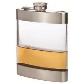 Clear Stainless Steel Pocket Flask