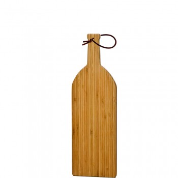 Bamboo Cutting Board, Medium with Leather Strap
