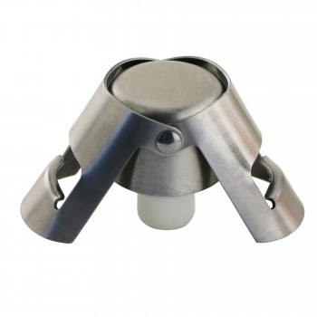 Quick Seal™ Brushed Stainless Steel Champagne Stopper