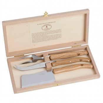 Laguiole Luxe Cheese Set, French Oak Handles