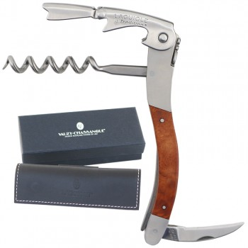 Laguiole Tradition® Two-Lever Waiter's Corkscrew, Heath Wood