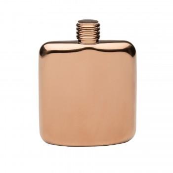Copper Plated Sleekline Pocket Flask, 4 oz.