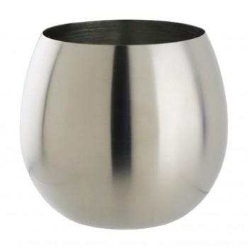 Sera™  SS Stemless Burgundy Bowl Glass, single wall 18 oz.