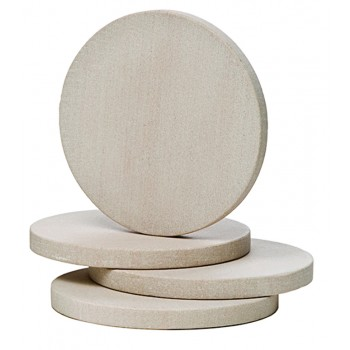 Sandstone Round Coasters, Natural Beige, Set of 4