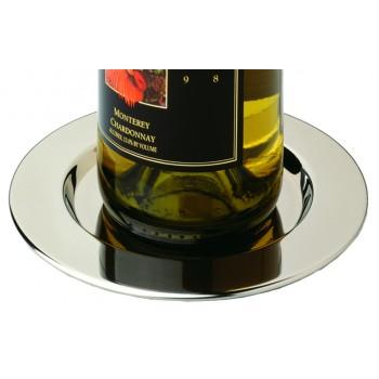 Pratique Wine Coasters, POLISHED Stainless Steel, Set of 4