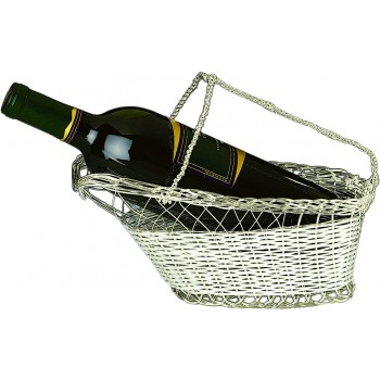 Wine Bottle Cradle, Silver Plated