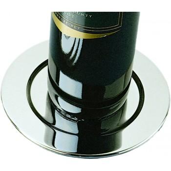 Pratique Wine Bottle Coasters, Silver Plated, Set of 4