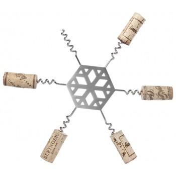 Snowflake Cork Trivet, Stainless Steel