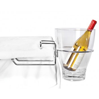 Table-Mount Wine Bucket Rack, Two Pieces of Chrome Plated Steel.
