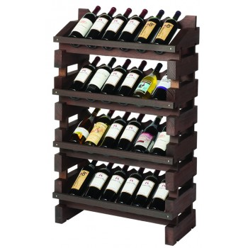 Modularack® Full Display Rack 24 Bottles - Stained