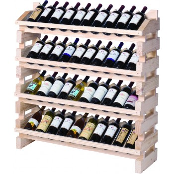 Modularack® Full Display Rack 40 Bottles - Natural