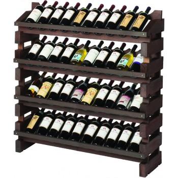 Modularack® Full Display Rack 40 Bottles - Stained